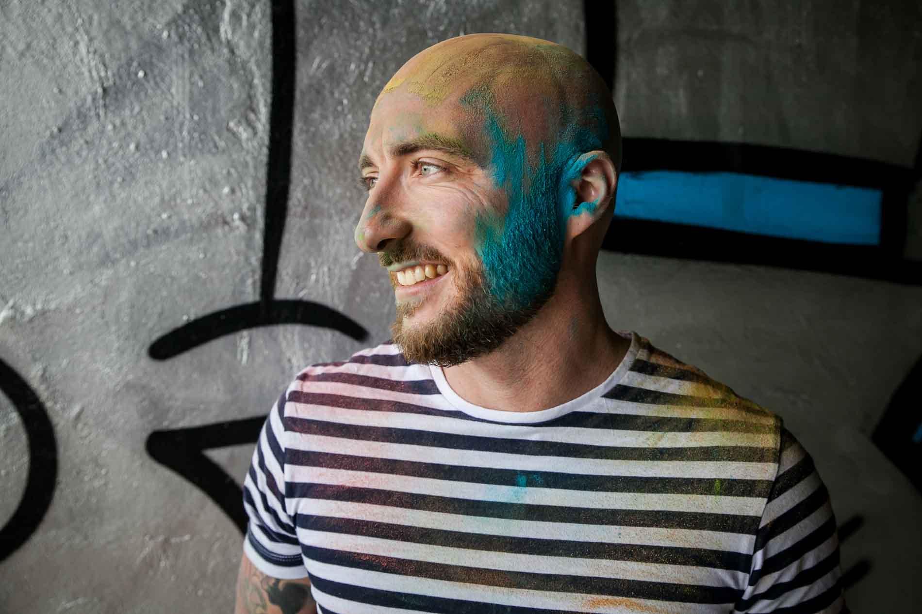 Séance photo Urbex Lyon poudre colorée