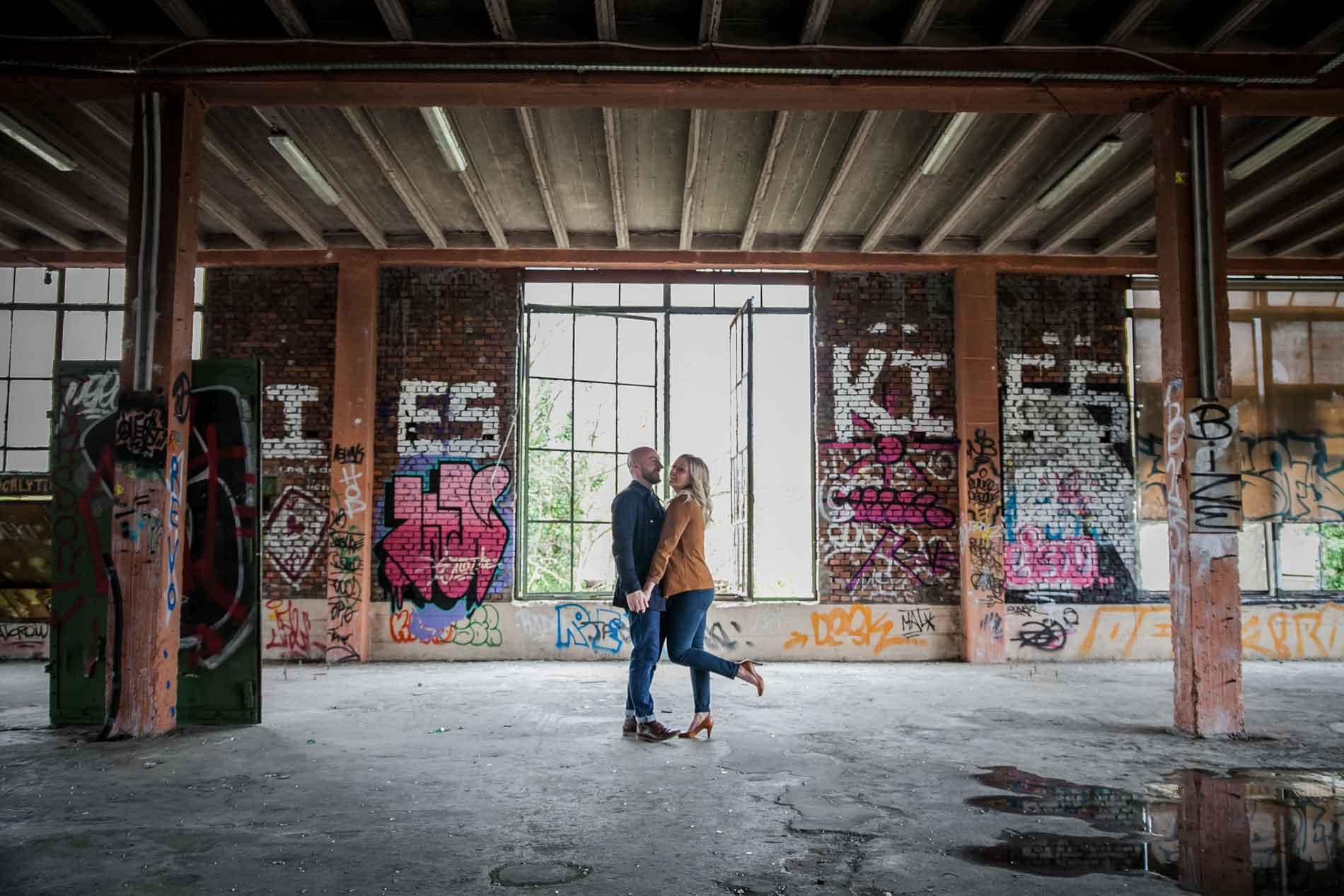 Séance engagement Urbex Lyon